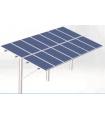 Estructura fotovoltaica para campos solares 2 líneas módulos vertical en aluminio