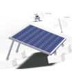 Estructura para módulos FV en cubiertas planas. 1 línea pata ajustable. Ideal naves industriales