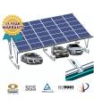 Pérgola solar fotovoltaica estanca al agua. Para coches o camiones.