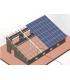 Estructura fotovoltaico/tejado para granjas, almacenes agrícolas, etc.